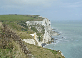 Image of the white cliffs of Dover