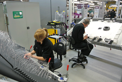 Image of people working at Rolls-Royce factory