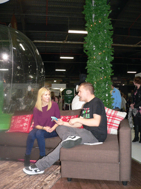 Image of a lovely chat with Lisa Faulkner