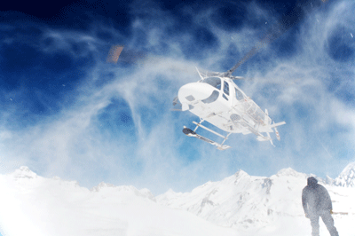 Image of heli-skiing
