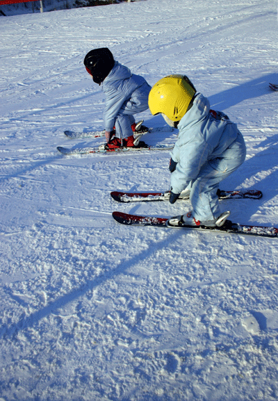 Image of kids skiing