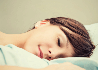 Image of happy sleeping person