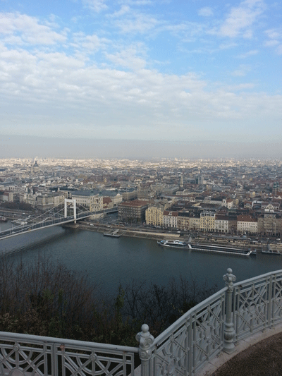Image of Budapest and Danube from high up