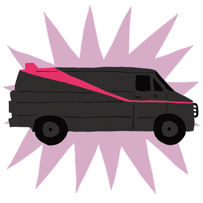 Cartoon of the a-team van
