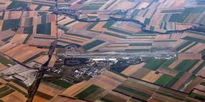 image of Paris Vatry airport from above