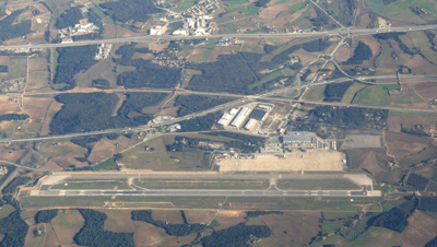 Image of Girona Barvelona airport from above