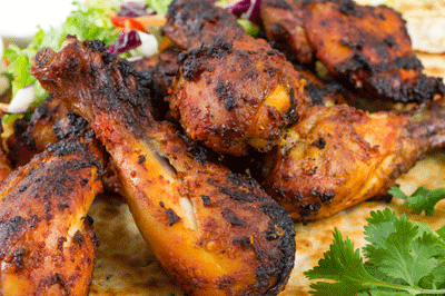 Image of delicious tandoori chicken