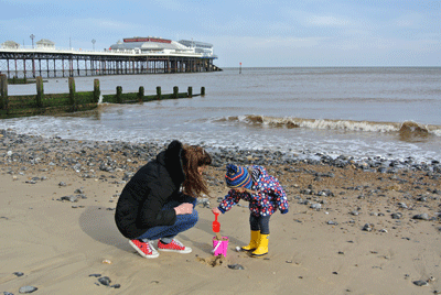 Image of family at Cromer