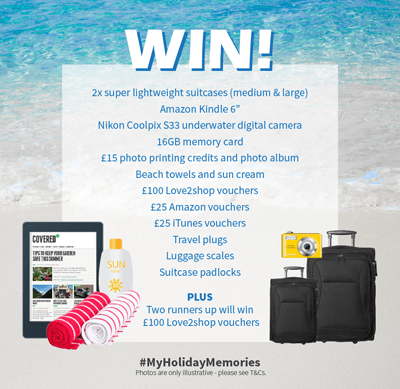 Image of prize package for #myholidaymemories competition