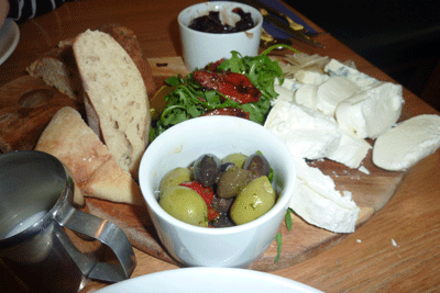 Image of Italian cheese platter in Portmeirion