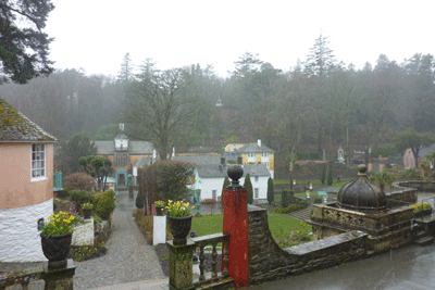 Image of Portmeirion in the rain