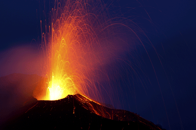 Image of a volcano