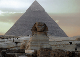 Image of the pyramids and Sphinx