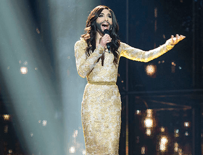 Image of Conchita Wurst at the Eurovision Song Contest in 2014