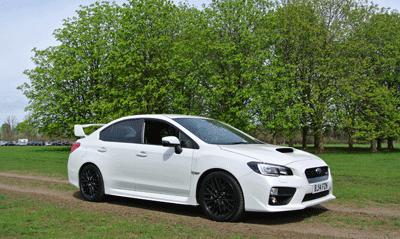 Image of Subaru WRX STI side profile view