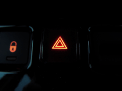 Image of a hazard light button