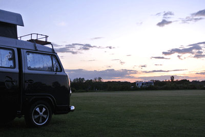 Image of campervan at dusk