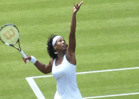 Image of Serena Williams serving