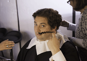Image of Wynne Evans in make-up