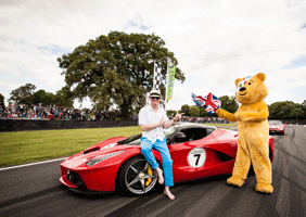 Image of Chris Evans and Pudsey Bear at CarFest