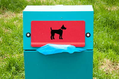 Image of a dog poo bin