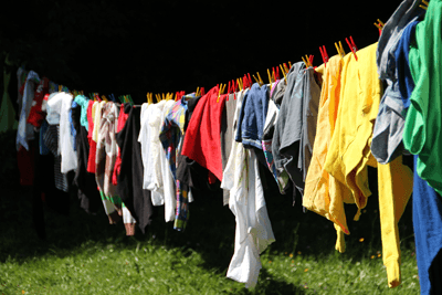 Image of a washing line with clothes