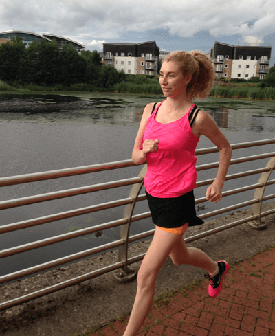 Image of Abbie Laughton-Coles enjoying a jog