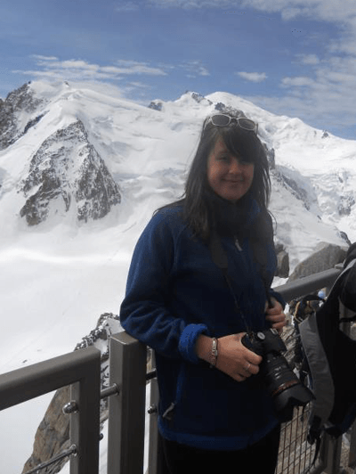 Image of Emily Bater at the top of Mont Blanc