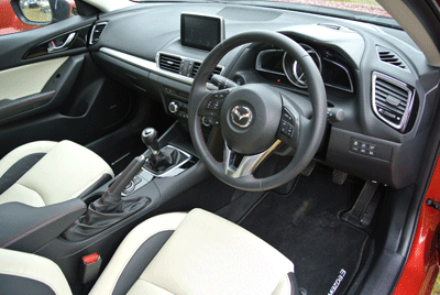 Image of interior of Mazda3