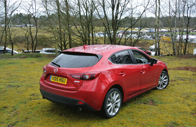 Image of Mazda3 from rear