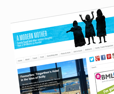 Screengrab of a Modern Mother blog