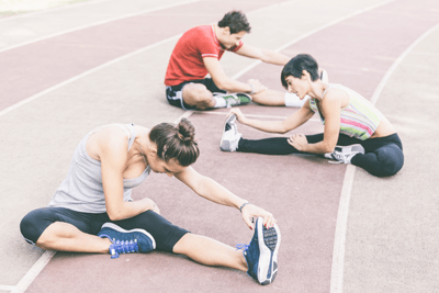 Image of runners stretching
