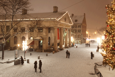 Image of Boston at Christmas time