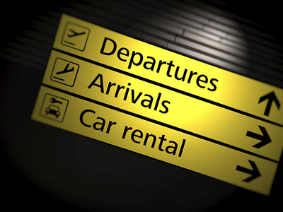 Image of airport signage