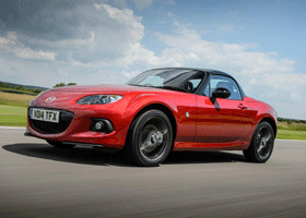 Image of a red Mazda MX-5