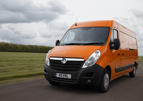Image of an orange Vauxhall Movano