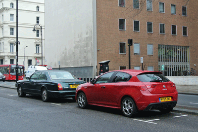Image of Giulietta parked up in London