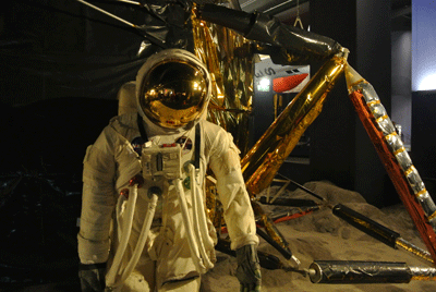 Image of astronaut at London Science Museum