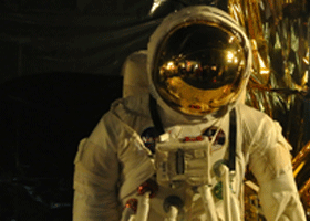 Image of an astronaut at London Science Museum