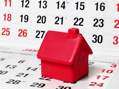 A house on a calendar
