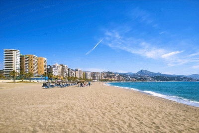 Image of beach in Malaga