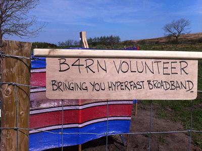 Image of B4RN volunteer sign
