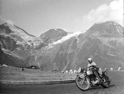 Image of rider in the Alps at 1939 IDST