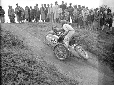 Image of man struggling uphill at 1939 IDST