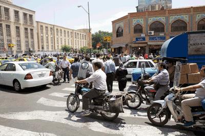 A busy street in Tehran, Iran
