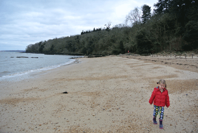 Image of child on Isle of Wight beach