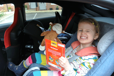 Image of child in Honda Civic Type R