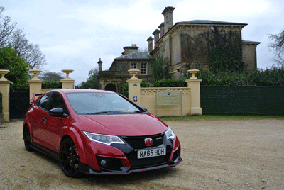 Image of Honda Civic Type R at Isle of Wight attraction