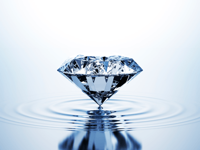 Image of a sparkling diamond