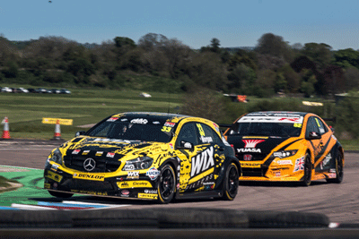Image of BTCC cars racing at Thruxton